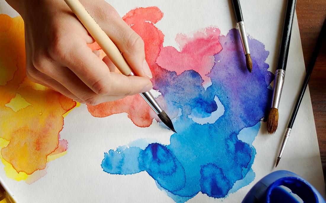 Урок рисования акварелью для двоих