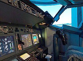 Полет на авиасимуляторе для двоих