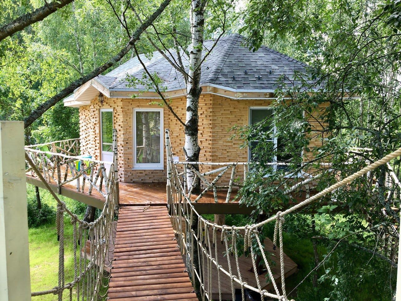 Незабываемый отдых в домике на дереве для двоих